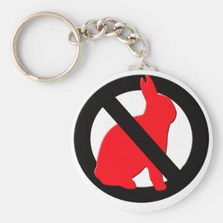 No Rabbits Allowed Basic Round Button Keychain