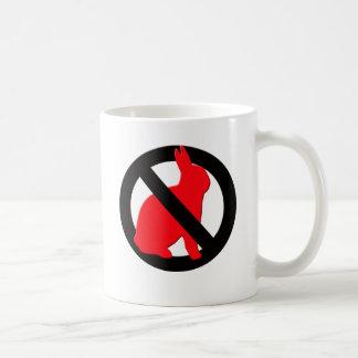 No Rabbits Allowed Coffee Mug