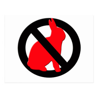 No Rabbits Allowed Postcard