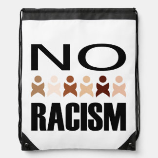 NO RACISM DRAWSTRING BAG
