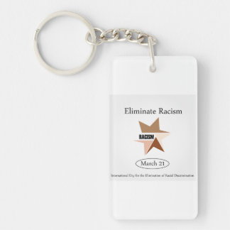 No Racism- Graphic showing unity Keychain