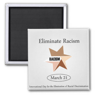No Racism- Graphic showing unity Magnet