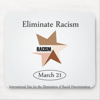 No Racism- Graphic showing unity Mouse Pad