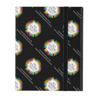 No racism graphic with colorful hands iPad folio case