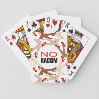 No racism playing cards