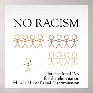 No racism poster