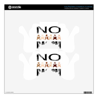 NO RACISM PS3 CONTROLLER SKIN