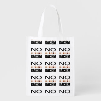 NO RACISM REUSABLE GROCERY BAG