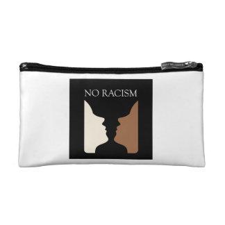 No racism with rubins vase cosmetic bag