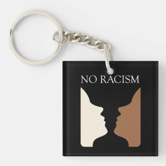 No racism with rubins vase keychain