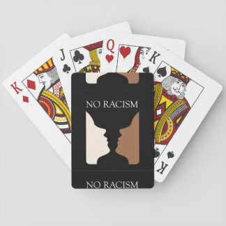No racism with rubins vase playing cards