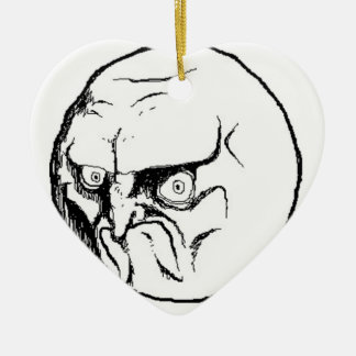 NO. Rage Face Ceramic Ornament