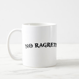 No Ragrets Mispelled Regrets Tattoo Coffee Mug