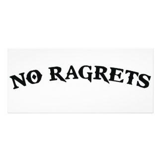 No Ragrets Mispelled Regrets Tattoo Rack Card