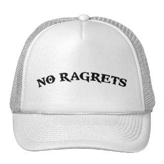 No Ragrets Mispelled Regrets Tattoo Trucker Hat