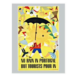 No Rain in Portugal Vintage Travel Postcard