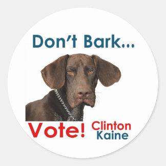 ¡No raspe… el voto! Pegatina Redonda