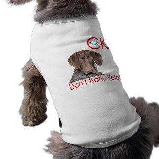 ¡No raspe… el voto! Playera Sin Mangas Para Perro