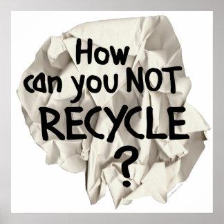¿No reciclar? Impresiones