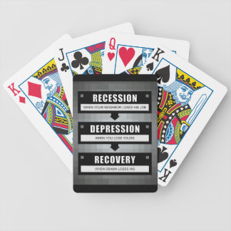 No Recovery With Obama Bicycle Playing Cards