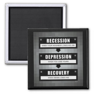No Recovery With Obama Refrigerator Magnet