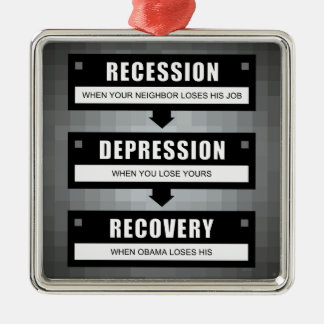 No Recovery With Obama Metal Ornament
