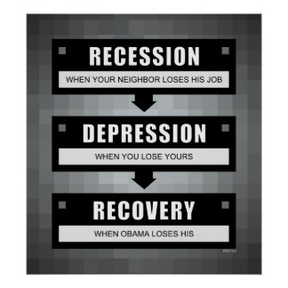 No Recovery With Obama Poster