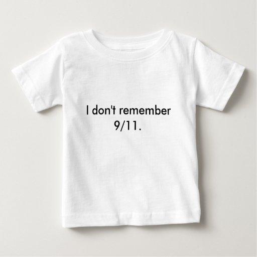 No recuerdo 9/11. remeras