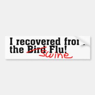 No recuperé del pájaro ningún negro de la gripe de etiqueta de parachoque
