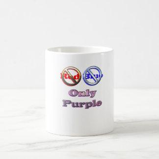 No Red No Blue Only Purple Classic White Coffee Mug