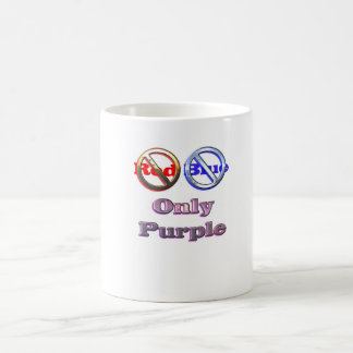 No Red No Blue Only Purple Mugs