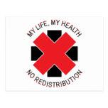 No Redistribution of Health Postcard