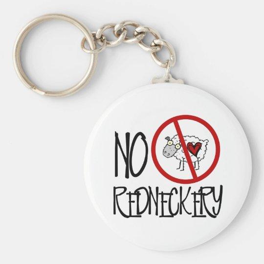 No Redneckery! Funny Redneck Sheep Keychain