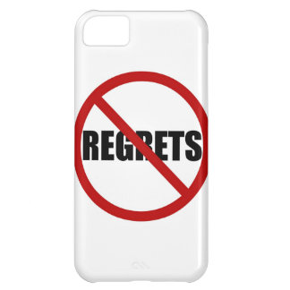 No Regrets Allowed Sign iPhone 5 Case