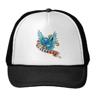 no regrets bird trucker hat