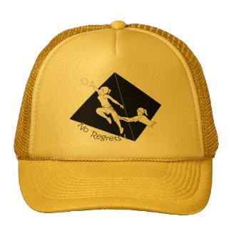 No Regrets Black on Yellow Trucker Hat