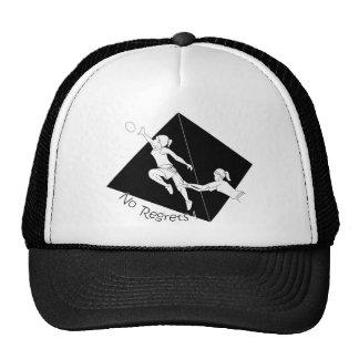 No Regrets Black w/ Pyramid Trucker Hat
