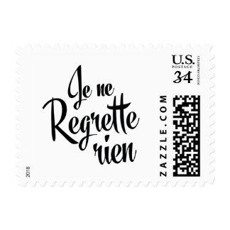 No Regrets French Je ne Regrette Rien Postage Stamp