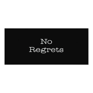 No Regrets Quotes Inspirational Motivation Quote Card