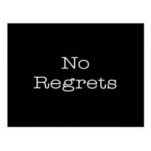 No Regrets Quotes Cards Zazzle
