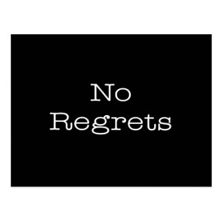 No Regrets Quotes Inspirational Motivation Quote Postcard