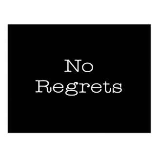 No Regrets Quotes Inspirational Motivation Quote Postcard