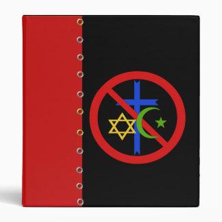 No Religion 3 Ring Binder