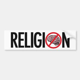 NO RELIGION BUMPER STICKER