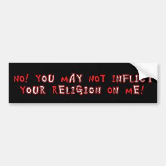 No Religion Bumper Stickers