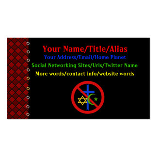 No Religion Double-Sided Standard Business Cards (Pack Of 100)