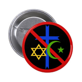 No Religion Pinback Button
