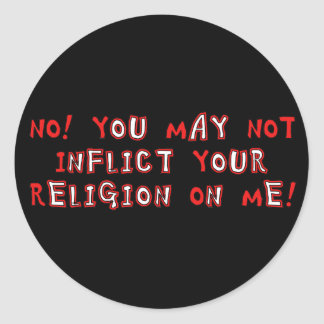 No Religion Classic Round Sticker