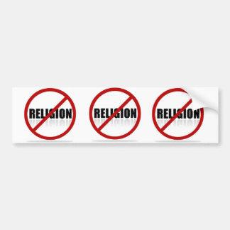 NO RELIGION funny bumper sticker anti-religion lol