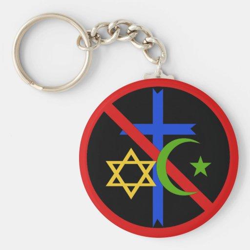 No Religion Key Chain